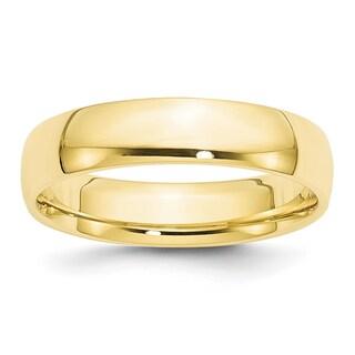 10 Karat Yellow Gold 5mm Lightweight Comfort Fit Band