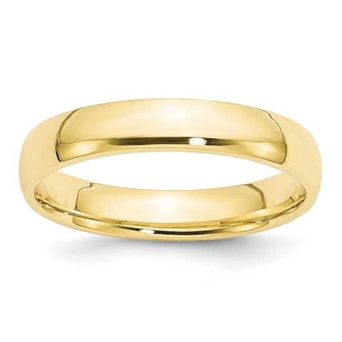 10K Yellow Gold 4mm Lightweight Solid Comfort Fit Wedding Band by Versil