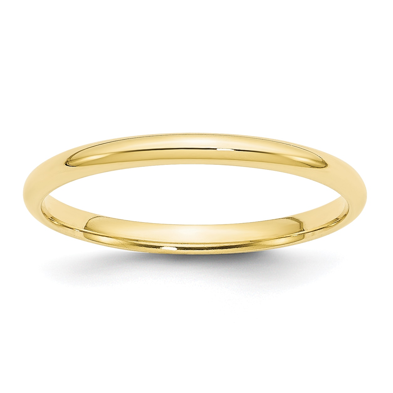 10K Yellow Gold 3mm Light Comfort Fit Band
