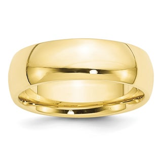 Link to 10 Karat Yellow Gold 7mm Comfort-Fit Band by Versil Similar Items in Rings