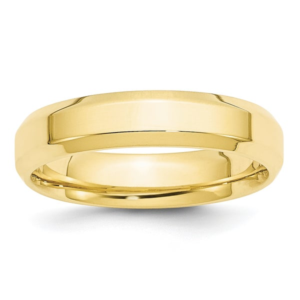 10K Yellow Gold 5mm Lightweight Comfort Fit Band Ring