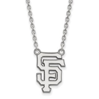 Sterling Silver San Francisco Giants Large Pendant With Necklace