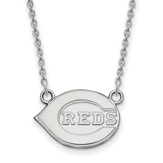 Sterling Silver Cincinnati Reds Small Pendant With Necklace
