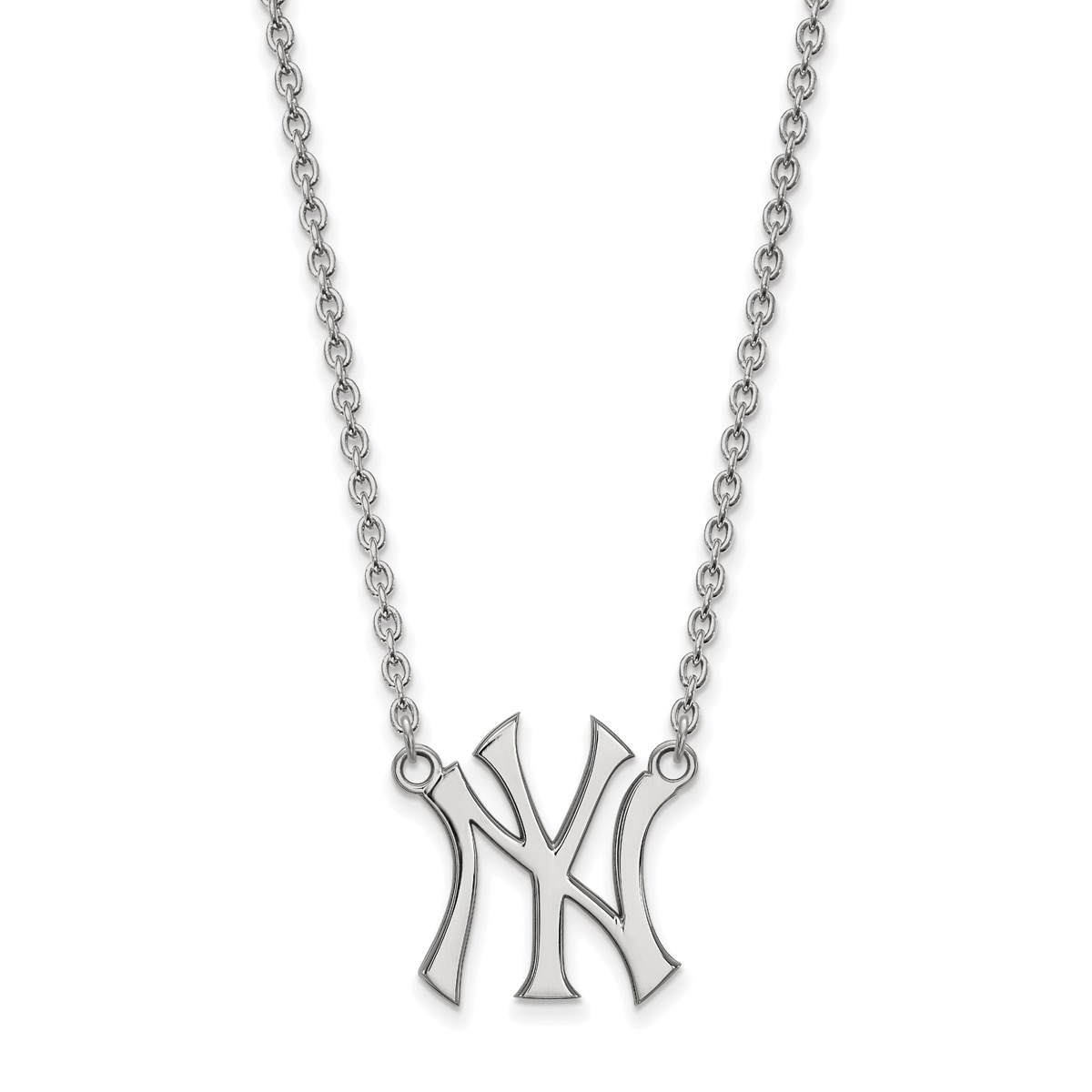 LogoArt Sterling Silver New York Yankees Large Pendant w/...