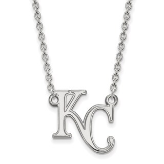 Sterling Silver Kansas City Royals Large Pendant With Necklace