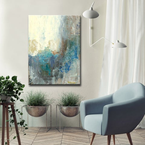 Silver Orchid Wayne Looking Outside' Canvas by Dana McMillan