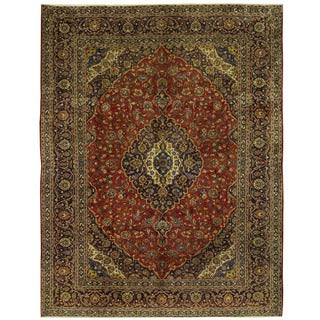 Herat Oriental Persian Hand-knotted Kashan Wool Rug (10' x 13')