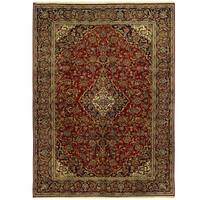 Handmade Herat Oriental Persian Isfahan Wool Rug - 8'10 x 12'1 (Iran)