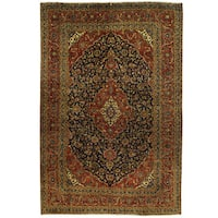 Herat Oriental Persian Hand-knotted Kashan Wool Rug - 8' x 12'1