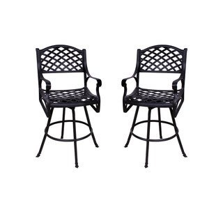 Lattice Work Counter-height Barstool without Cushions (Set of 2)