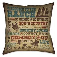Laural Home Rodeo Words Indoor/Outdoor Decorative Pillow