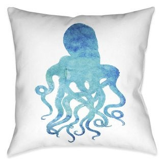Laural Home Aqua Octopus Indoor- Outdoor Decorative Pillow