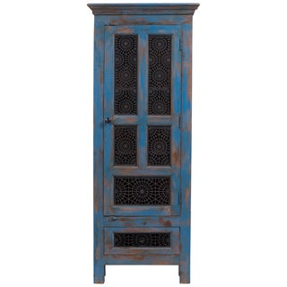 Handmade Wanderloot Tangier Tall Linen Cabinet (India)