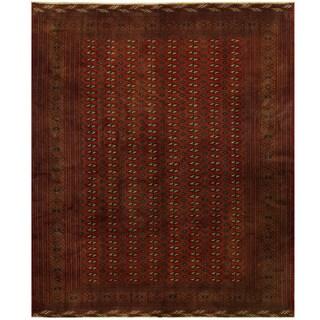Herat Oriental Persian Hand-knotted 1950s Semi-antique Turkoman Wool Rug (10'7 x 12'7)