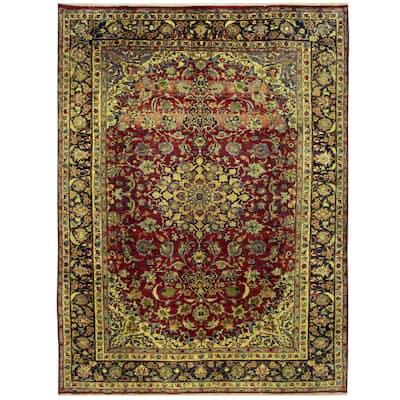Handmade One-of-a-Kind Isfahan Wool Rug (Iran) - 9'7 x 13'