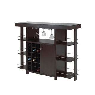 Brassex 12532 Espresso Bar with Tempered Glass Top