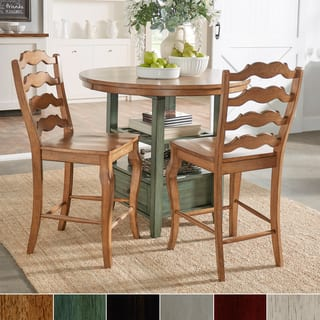 Eleanor French Ladder Back Wood Counter Chair (Set of 2) by iNSPIRE Q Classic|https://ak1.ostkcdn.com/images/products/15857413/P22267074.jpg?impolicy=medium