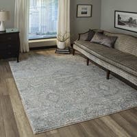 Momeni Brooklyn Heights Polyester and Polypropylene Blue Are Rug - 2' X 3'