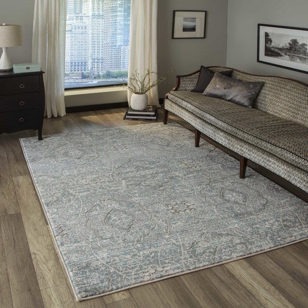 """Momeni Brooklyn Heights Polyester and Polypropylene Blue Are Rug - 7'10"""" x 9'10"""""""