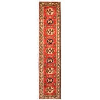 Handmade Herat Oriental Afghan Tribal Kazak Wool Runner - 2'8 x 12'8 (Afghanistan)