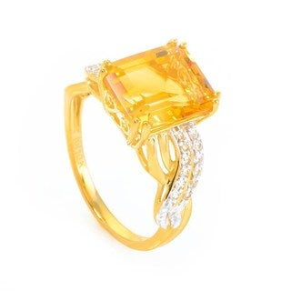 10K Yellow Gold Diamond and Citrine Ring LC1-01221