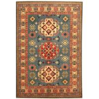 Herat Oriental Afghan Hand-knotted Tribal Kazak Wool Rug (4'8 x 6'11)