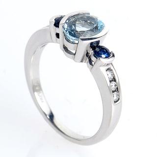 14K White Gold Marquise-Cut Tanzanite Ring PSAG26-081712