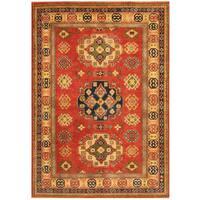 Herat Oriental Afghan Hand-knotted Tribal Kazak Wool Rug (4'11 x 6'11)