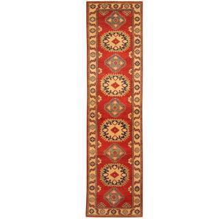 Herat Oriental Afghan Hand-knotted Tribal Kazak Wool Runner (2'7 x 9')