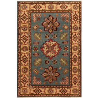 Herat Oriental Afghan Hand-knotted Tribal Kazak Wool Rug (3'4 x 4'10)