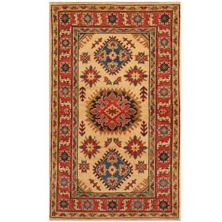 Herat Oriental Afghan Hand-knotted Tribal Kazak Wool Rug (2'11 x 4'10)