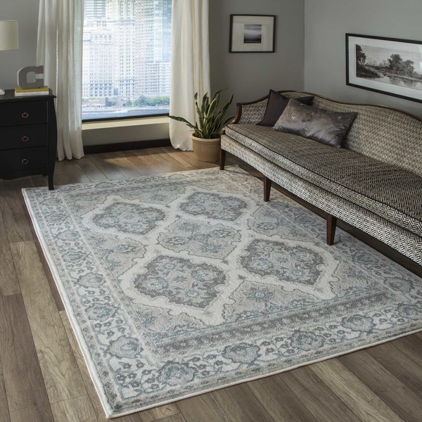 """Momeni Brooklyn Heights Polyester and Polypropylene Ivory Are Rug - 7'10"""" x 9'10"""""""