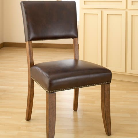 Hillsdale Furniture Cameron Chestnut Brown Wood Parson Dining Chairs (Set of 2)
