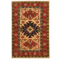 Herat Oriental Afghan Hand-knotted Tribal Kazak Wool Rug (2'6 x 4')