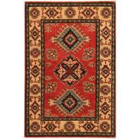 Handmade Herat Oriental Afghan Tribal Kazak Wool Rug (Afghanistan) - 2'8 x 4'10