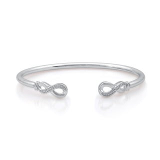 Diamond Accent Flexi Infinity Bangle In Sterling Silver (I-J, I2/I3)