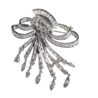 MFCO01-101912 Platinum and Diamond Brooch
