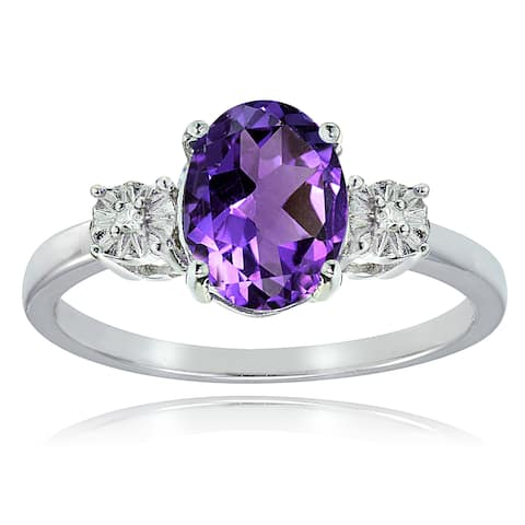 e47dddd543c92 Buy Amethyst Gemstone Rings Online at Overstock | Our Best Rings Deals