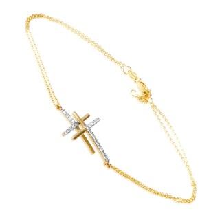 14K Yellow Gold Diamond Bracelet BR4-10006Y