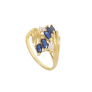 10K Yellow Gold Sapphire & Diamond Ring RM1381YS-10K|https://ak1.ostkcdn.com/images/products/15857966/P22267590.jpg?impolicy=medium