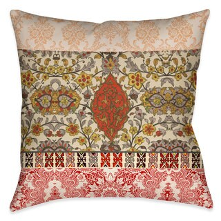 Laural Home Boho Red Tapestry Indoor- Outdoor Decorative Pillow