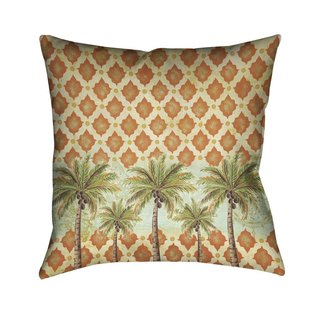 Laural Home Vintage Palm Indoor- Outdoor Decorative Pillow