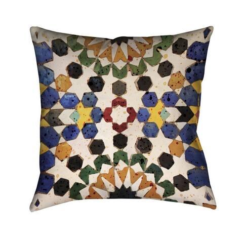 Laural Home Bright Tiles Indoor- Outdoor Decorative Pillow