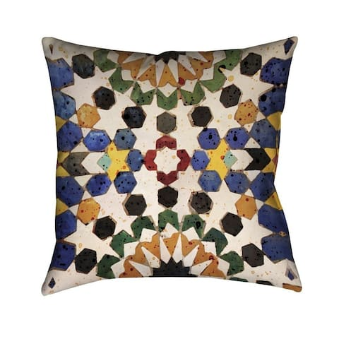 Laural Home Bright Tiles Indoor- Outdoor Decorative Pillow
