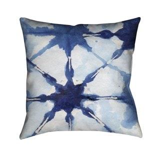 Laural Home Indigo Tie Dye II Indoor- Outdoor Decorative Pillow