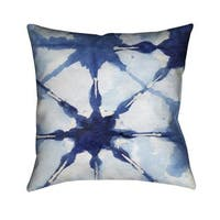 Laural Home Indigo Tie Dye II Indoor- Outdoor Decorative Pillow