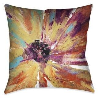 Laural Home Sunset Splash Daisy Indoor- Outdoor Decorative Pillow