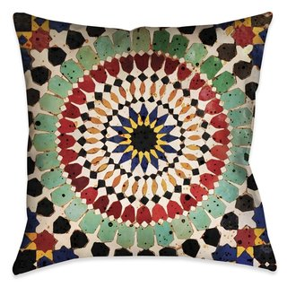 Laural Home Mosaic Sequence Indoor- Outdoor Decorative Pillow