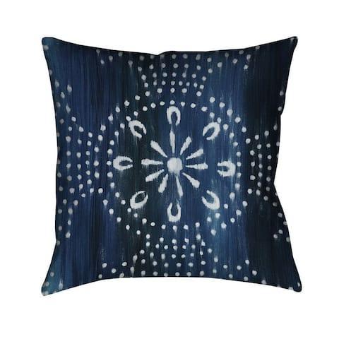 Laural Home Blue Moon Pattern II Indoor- Outdoor Decorative Pillow