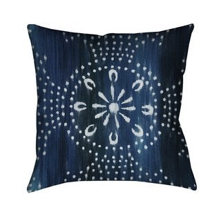 Laural Home Blue Moon Pattern II Indoor- Outdoor Decorative Pillow